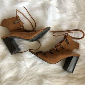 Forever 21 | faux suede lace up heels